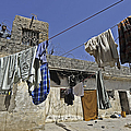 Laundry Hangs In The Courtyard by Stocktrek Images