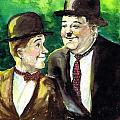 Laurel And Hardy by Mel Thompson