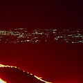 Lava Flow At Night by Dr Juerg Alean