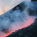 Lava Flowing From Base Of Hornito by Richard Roscoe