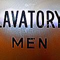 Lavatory Mens by Geoff Strehlow