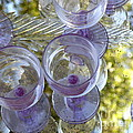 Lavender Wine Glasses by Lainie Wrightson
