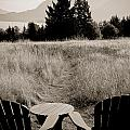 Lawn Chair View Of Field by Darcy Michaelchuk