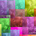 Layered Tiles Abstract by Debbie Portwood