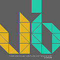 Le Corbusier Quote Poster by Naxart Studio