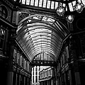 Leadenhall Market Black And White by David Pyatt