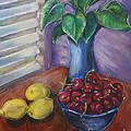 Leaves Cherries And Lemons by Ginger Dixon