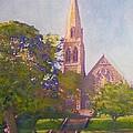 Leckie Memorial  Church  Peebles Scotland by Richard James Digance