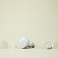 Led Bulbs And Miniature Houses by sozaijiten/Datacraft