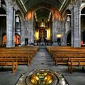 Leeds Cathedral Baptismal Font And Nave by Yhun Suarez