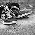 Left On The Curb Bw by Karol Livote