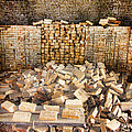 Left Over Brick In Antique Brick Kiln by Kathy Clark