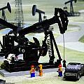 Lego Oil Pumpjacks by Ricky Barnard