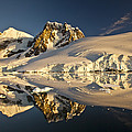 Lemaire Channel At Sunset Antarctic by Colin Monteath