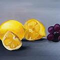 Lemons And Grapes by Rita Fernandes