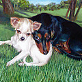 Lena And Peanut by Nancy Tilles