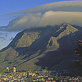 Lenticular Cloud Over Table Mountain by Gordon Wiltsie
