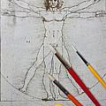 Leonardo Artwoork And Brushes by Garry Gay