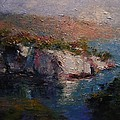Les Calanques At Dusk by R W Goetting