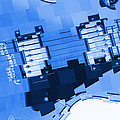 Abstract Guitar In Blue 2 by Mike McGlothlen
