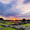 Lesnes Abbey Ruins Sunset by Dawn OConnor