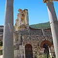 Library Of Celsus And Columns by Rich Walter