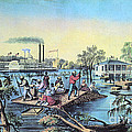 Life On The Mississippi, 1868 by Photo Researchers