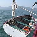 Lifeboat From The Schooner Margaret Todd by Sven Migot