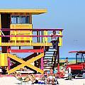 Lifeguard Hut by Dieter  Lesche
