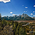 Light Rays On The Grand Tetons by Robert Bales