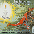 Lightbulb Ad, 1900 by Granger