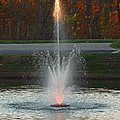Lighted Fountain by John Mullins