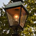 Lighted Street Lamppost by Sally Weigand