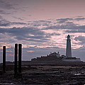 Lighthouse At Low Tide II by David Pringle