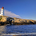 Lighthouse At Peggy's Cove by Donna Caplinger