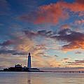 Lighthouse At Sunrise by David Pringle