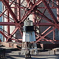 Lighthouse Atop Fort Point Next To The San Francisco Golden Gate Bridge - 5d18999 by Wingsdomain Art and Photography