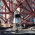 Lighthouse Atop Fort Point Next To The San Francisco Golden Gate Bridge - 5d19001 by Wingsdomain Art and Photography