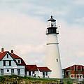 Lighthouse Maine by Art Dingo