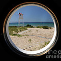 Lighthouse Window To Lake by Ronald Grogan