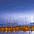 Lightning At The Marina by Stephen Whalen