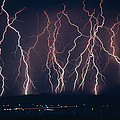 Lightning Near Barstow, California by Keith Kent