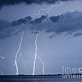 Lightning On The Water by Stephen Whalen