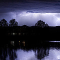 Lightning Over Coot Lake by James BO Insogna