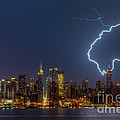 Lightning Over New York City Vii by Clarence Holmes