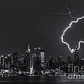 Lightning Over New York City Viii by Clarence Holmes