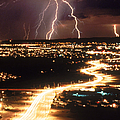 Lightning Storm by Kent Wood and Photo Researchers