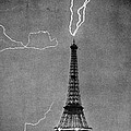 Lightning Strikes Eiffel Tower, 1902 by Science Source