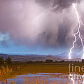 Lightning Striking Longs Peak Foothills 6 by James BO Insogna