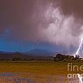 Lightning Striking Longs Peak Foothills 8 by James BO Insogna